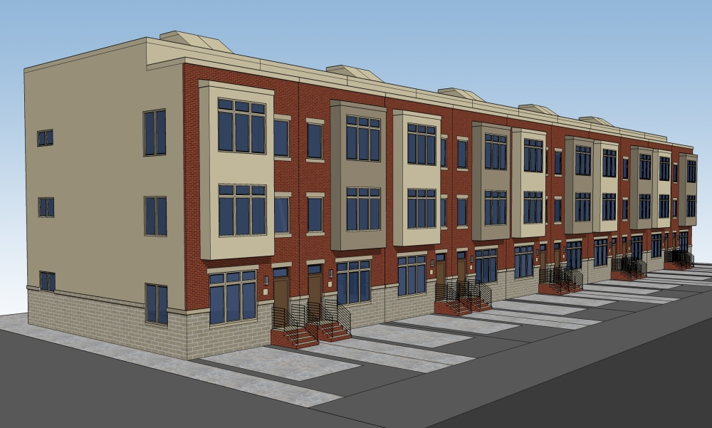 Slick Concrete Driveways Slated for Geary Estates Townhomes in Packer Park, South Philadelphia (2/3)